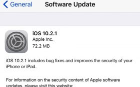 شرکت اپل نسخه iOS 10.2.1 را عرضه کرد