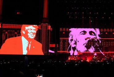 """راجر واترز مخا لفت خود با دونالد ترامپ را با موزیک ویدیو جدیدی به نام """"خوک"""" به نمایش گذاشت"""