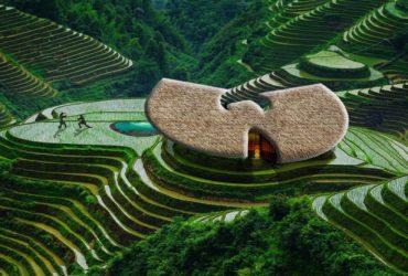 ویلایی در شالیزار های برنج ژاپن به شکل لوگو وو تانگ کلان !!!