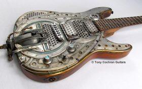 گیتار های دست ساز Tony Cochran با طراحی جالب و صنعتی