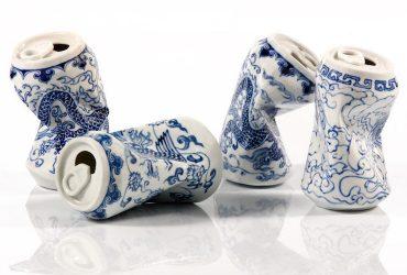 قوطی های له شده نوشیدنی به سبک فنجان های چای سلسله مینگ در چین!