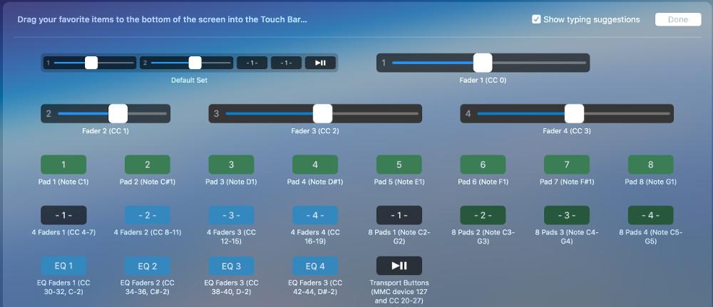 پلاگین رایگان MIDI Touchbar