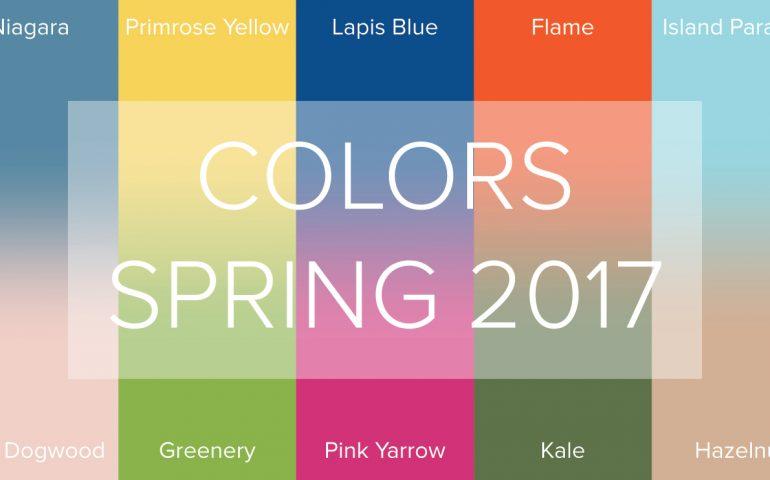 10 رنگ منتخب بهار و تابستان 2017