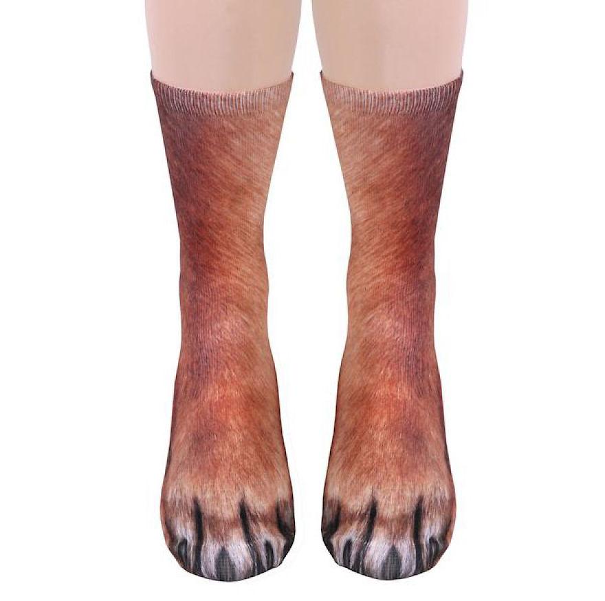 جوراب های به شکل پنجه های حیوانات