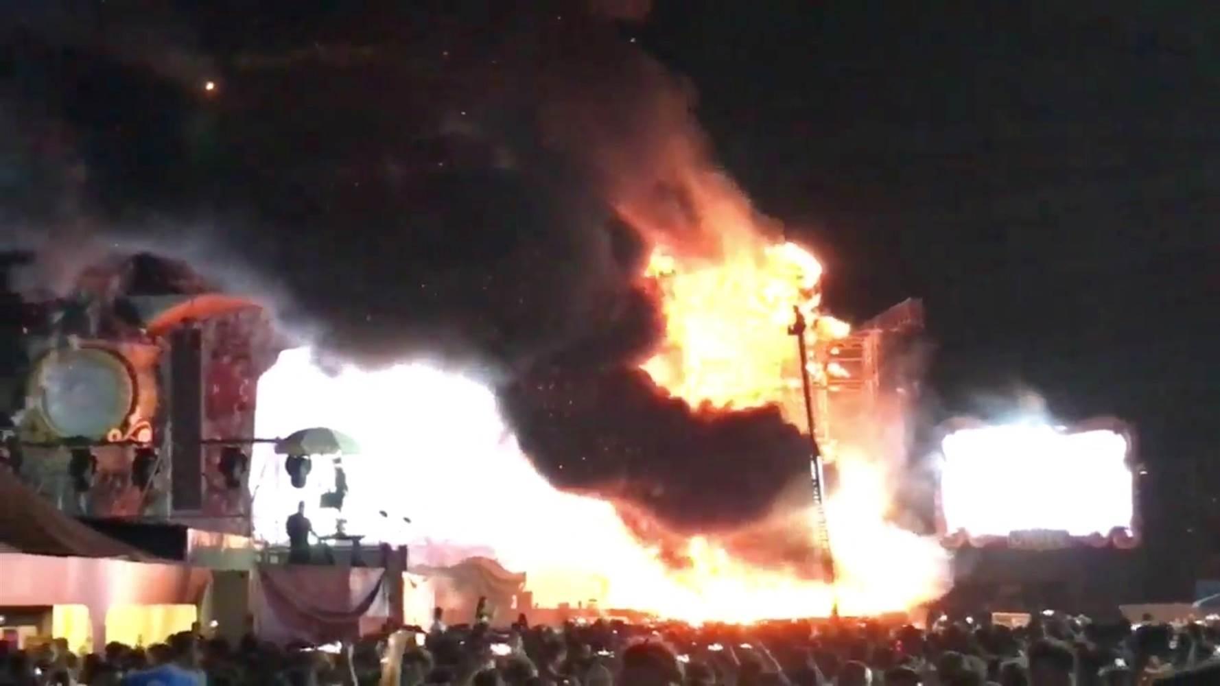 آتش سوزی مهیب در فستیوال تومارولند
