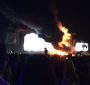 آتش سوزی مهیب در فستیوال تومارولند و تخیله 22000 تماشاچی !