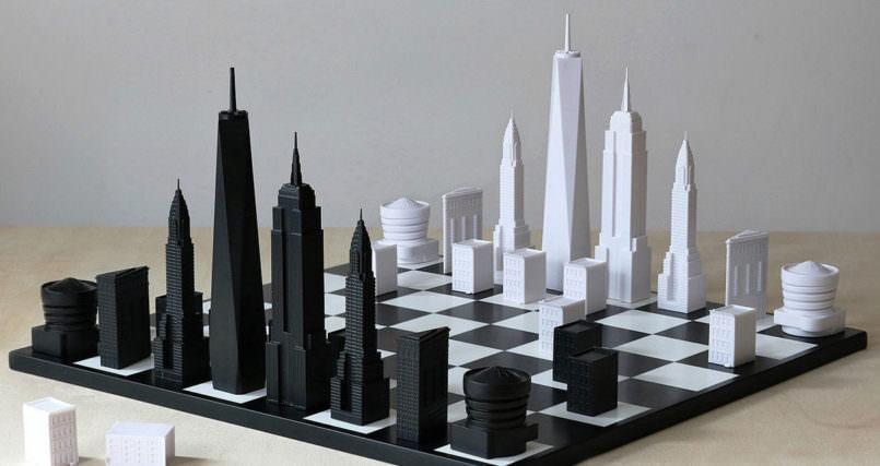 تخته شطرنج به سبک معماری و ساختمان های شهر نیویورک ! + ویدیو