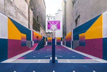 جذابترین زمین بسکتبال دنیا در پاریس واقع شده است !