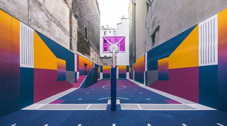 جذابترین زمین بسکتبال دنیا در پاریس