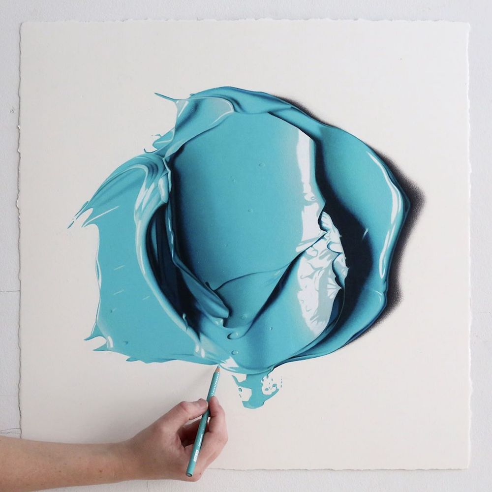 نقاشی های بسیار واقع گرایانه با مداد رنگی