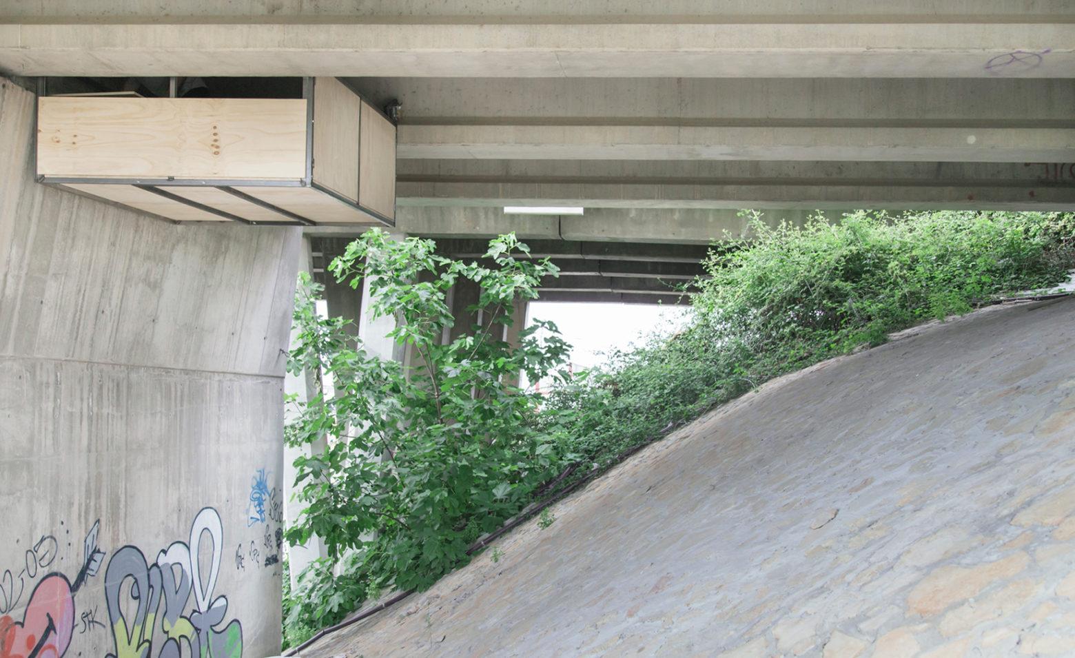 استودیو معلق زیر پلی در بزرگراه