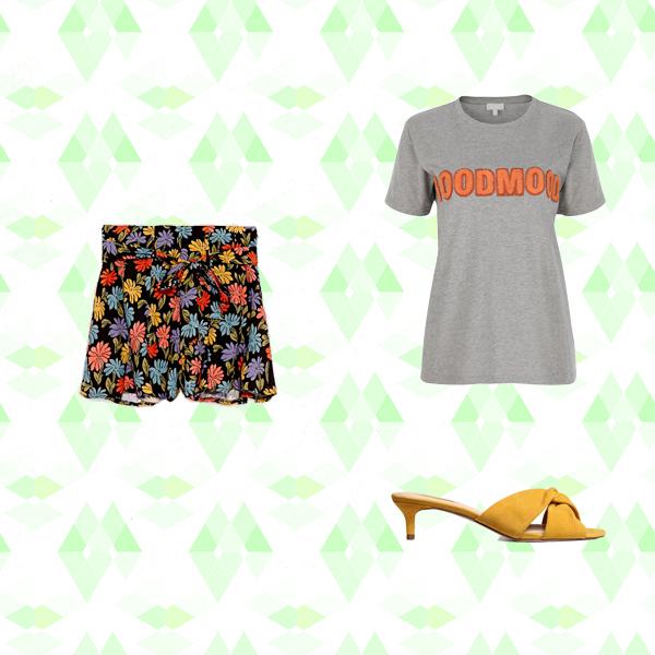 4 استایل پیشنهادی با لباس هایی با طرح های گلدار برای آخر هفته