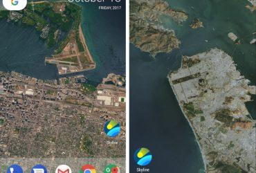 برنامه اندرویدی اسکای لاین Skyline لوکیشن شما را تبدیل به تصویر پس زمینه گوشی می کند