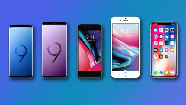 مقایسه گلکسی S9 و S9 پلاس با آیفون x