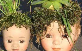 ساخت گلدان از عروسک های کهنه !