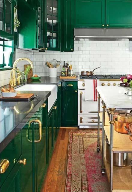 9پیشنهاد برای دکوراسیون آشپزخانه های رنگارنگ