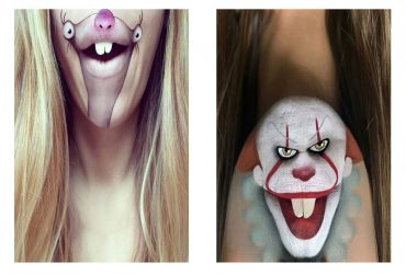 خلق شخصیت های کارتونی بر روی صورت توسط آرایش !