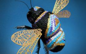 ساخت مجسمه های کاغذی سه بعدی با استفاده از کاغذهای رنگی