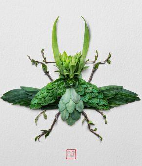 ساختن حشرات و حیوانات زیبا با استفاده از گیاهان مختلف!!!
