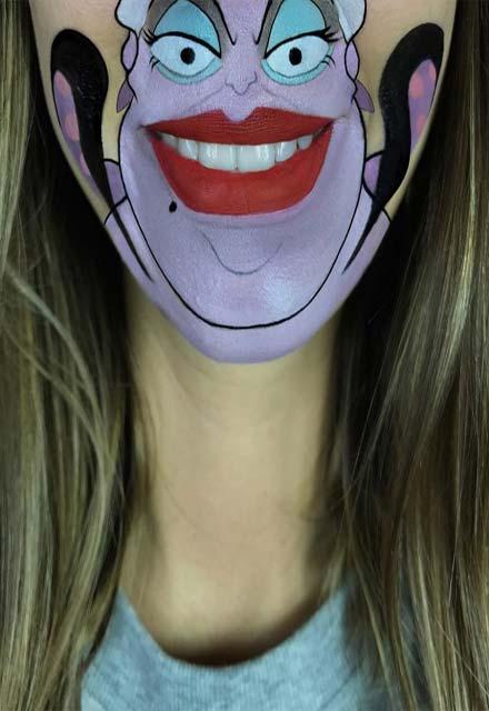 خلق شخصیت های کارتونی بر روی صورت توسط آرایش