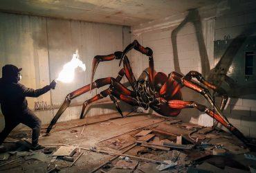 نقاشی های خیابانی سه بعدی در ساختمان های مناطق محروم