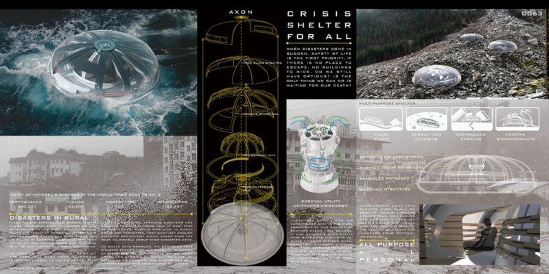 Crisis Shelter for All طراحان : Zhiyong Wang / Zihao Wang