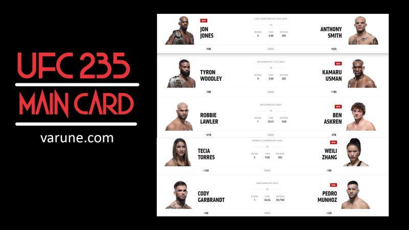 نگاهی به مبارزات UFC 235 - کارت اصلی