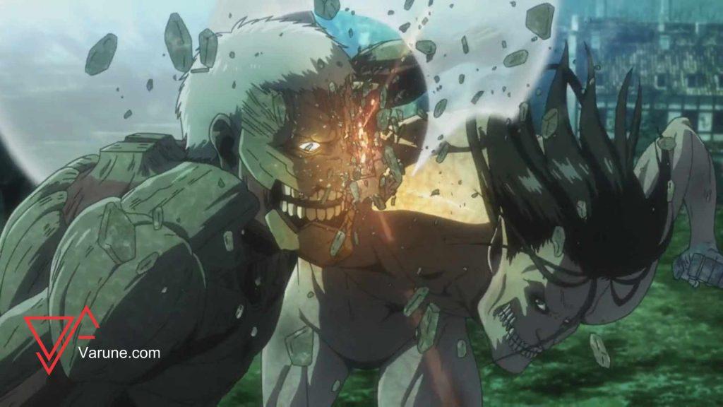 ارن هم راینر رو میترکوته با اون  پنجه های سنگیش!