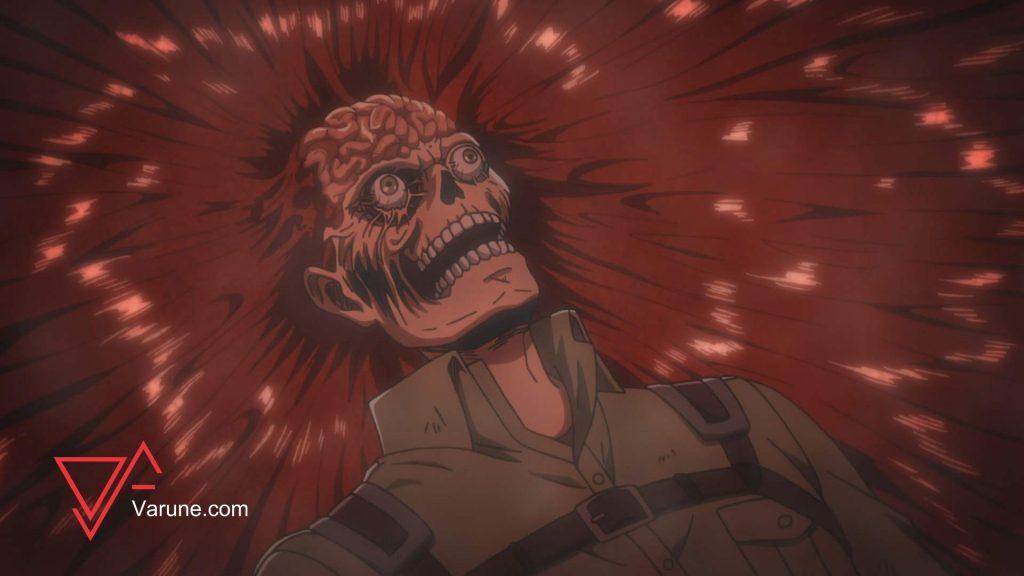 بدن راینر در حال بازسازی سر