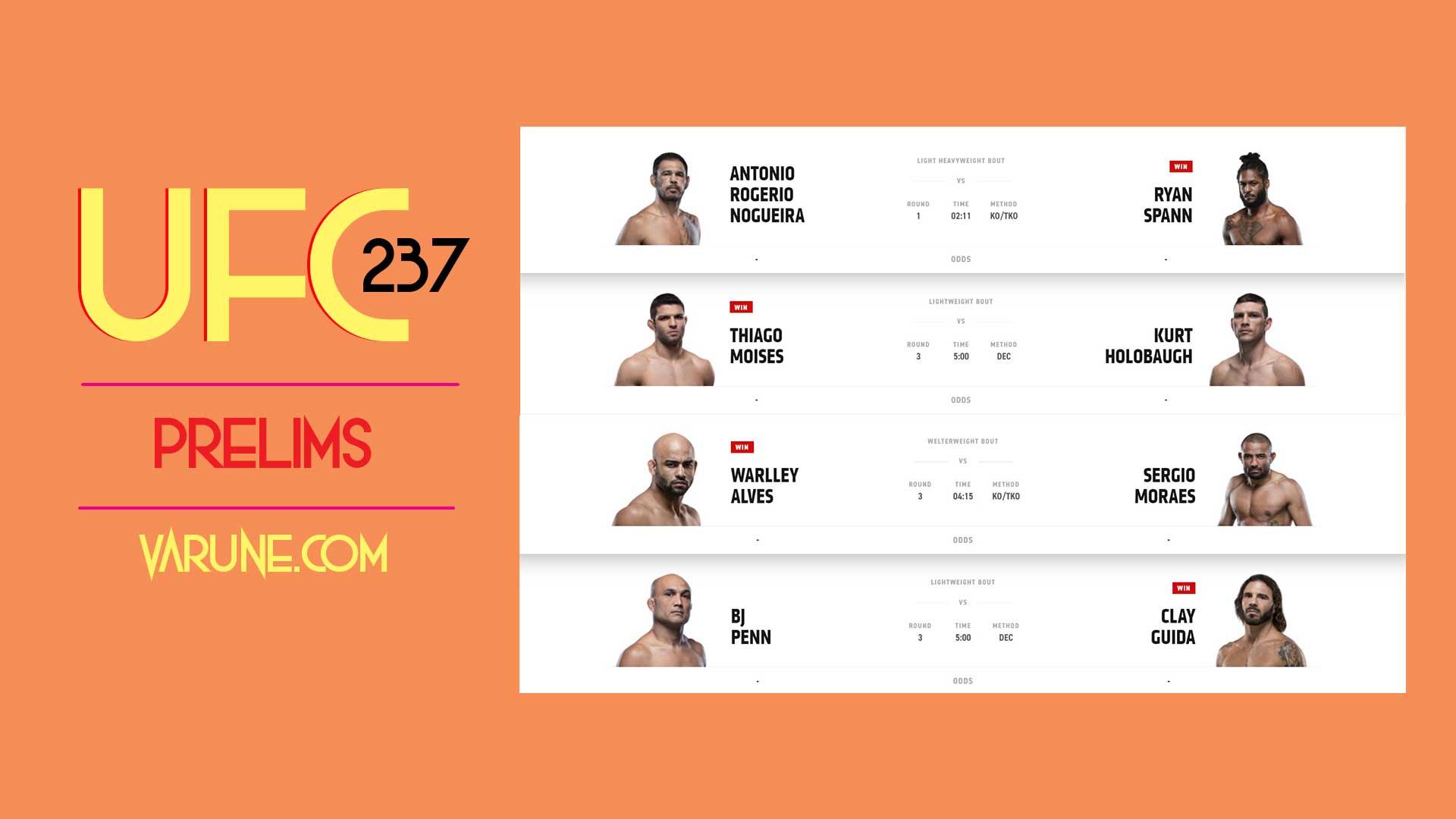 نگاهی به مبارزات UFC 237