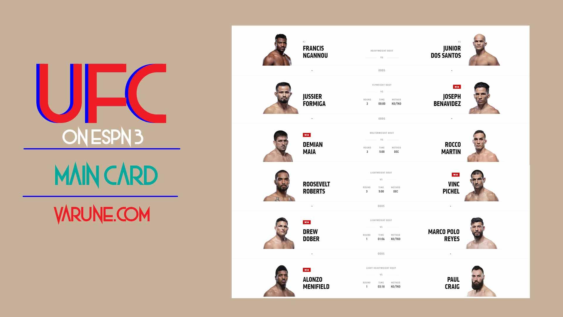نگاهی به مبارزات UFC ON ESPN 3 ؛ فرانسیس انگانو صاحب سومین برد با TKO شد!