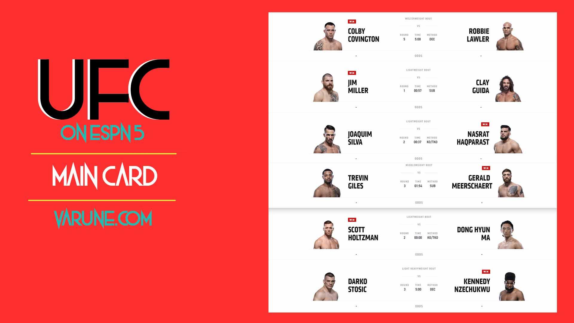 نگاهی به مبارزات UFC ON ESPN 5 ؛ کلبی کاوینگتون آماده برای قهرمانی !