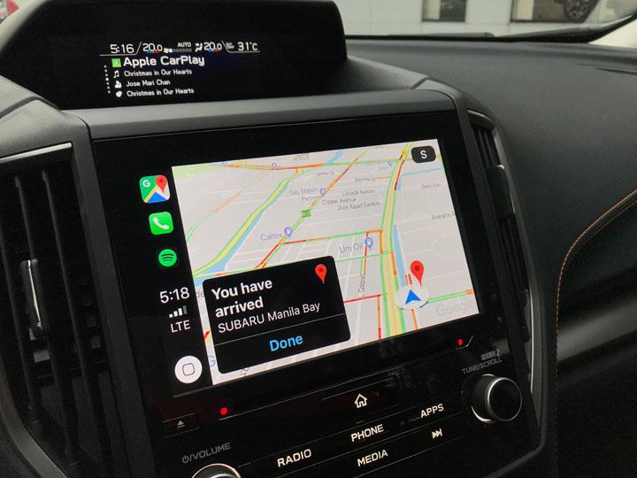 گوگل مپ در CarPlay