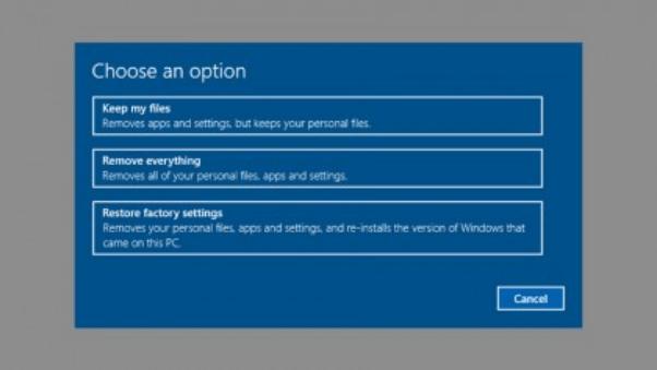 full Windows reset