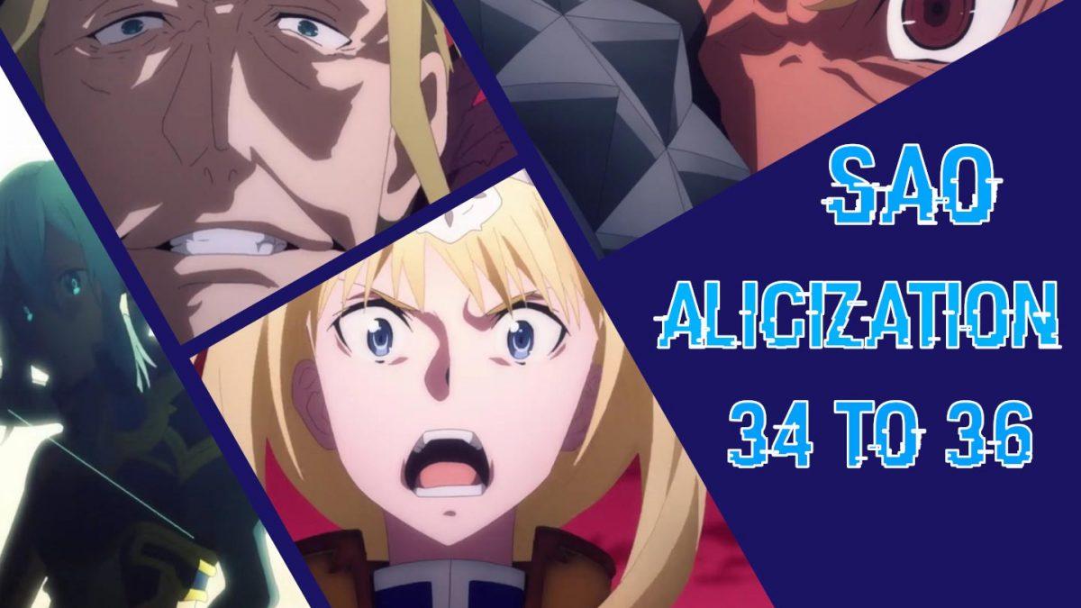 بررسی قسمتهای ۳۴ تا ۳۶ انیمه Sword Art Online Alicization: واقعیت در حقیقت!