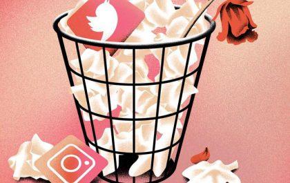 استفاده از شبکه های اجتماعی پس از تمام کردن رابطه