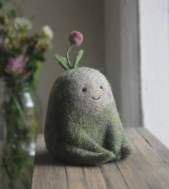 موجودات مینیاتوری ساخته شده از پشم نمد توسط نستاسیا شولجاک