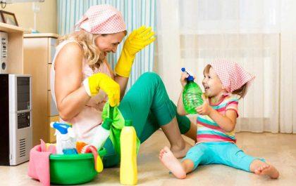 استفاده از شوینده ها خطر آسم در کودکان