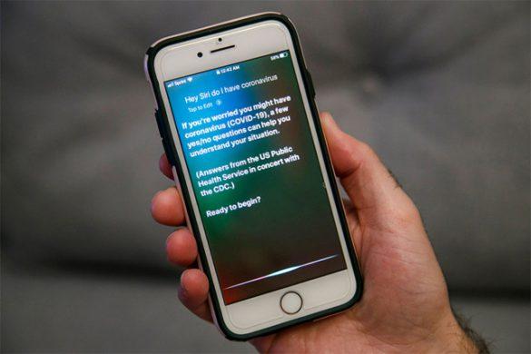 تشخیص کرونا با دستیار هوشمند اپل Siri