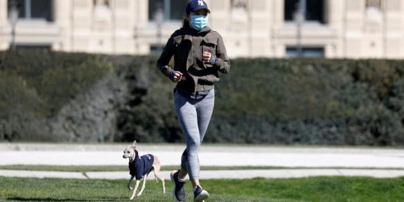 ورزش کردن با ماسک در فضای باز