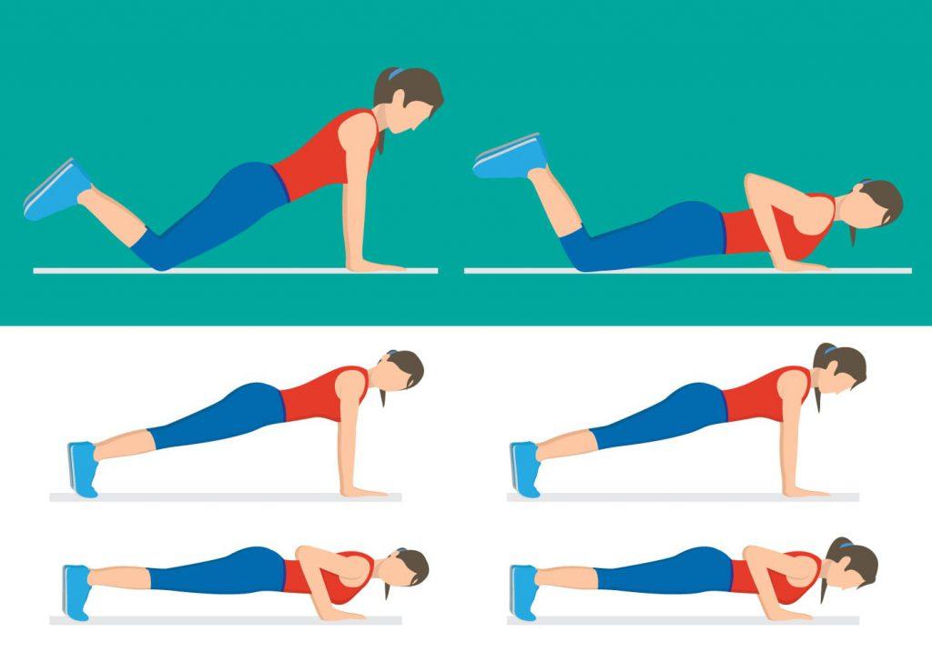 تمرینات ورزشی ساده در عرض 2 دقیقه