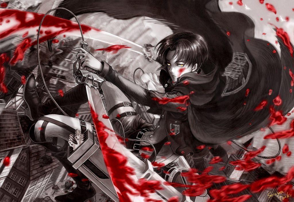بهترین والپیپرهای انیمه Attack on Titan