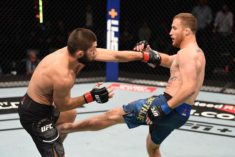 مبارزه حبیب نورماگومدوف با جاستین گیجی در UFC 254 ؛ بصورت کامل