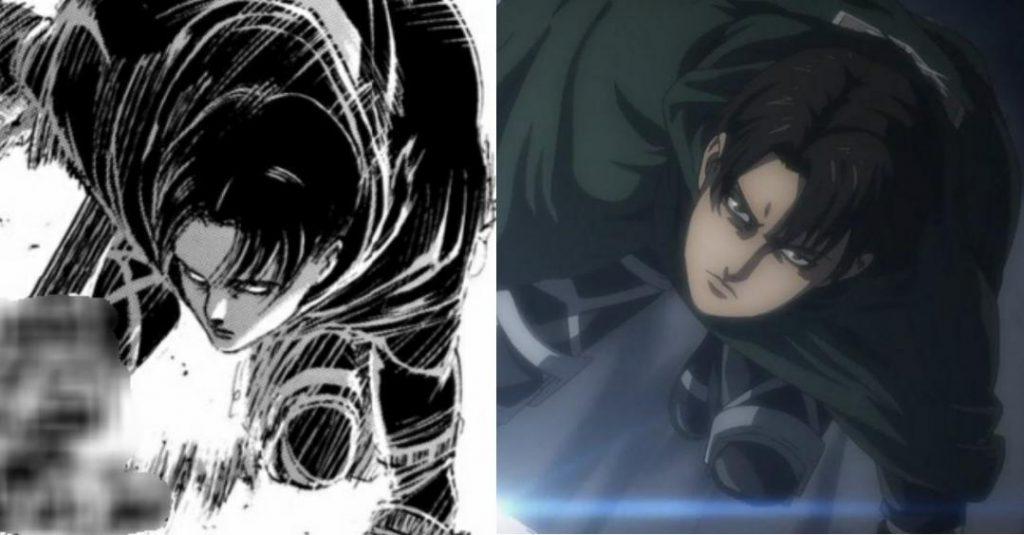 مقایسه مانگا و انیمه قسمت ششم فصل چهارم Attack on Titan