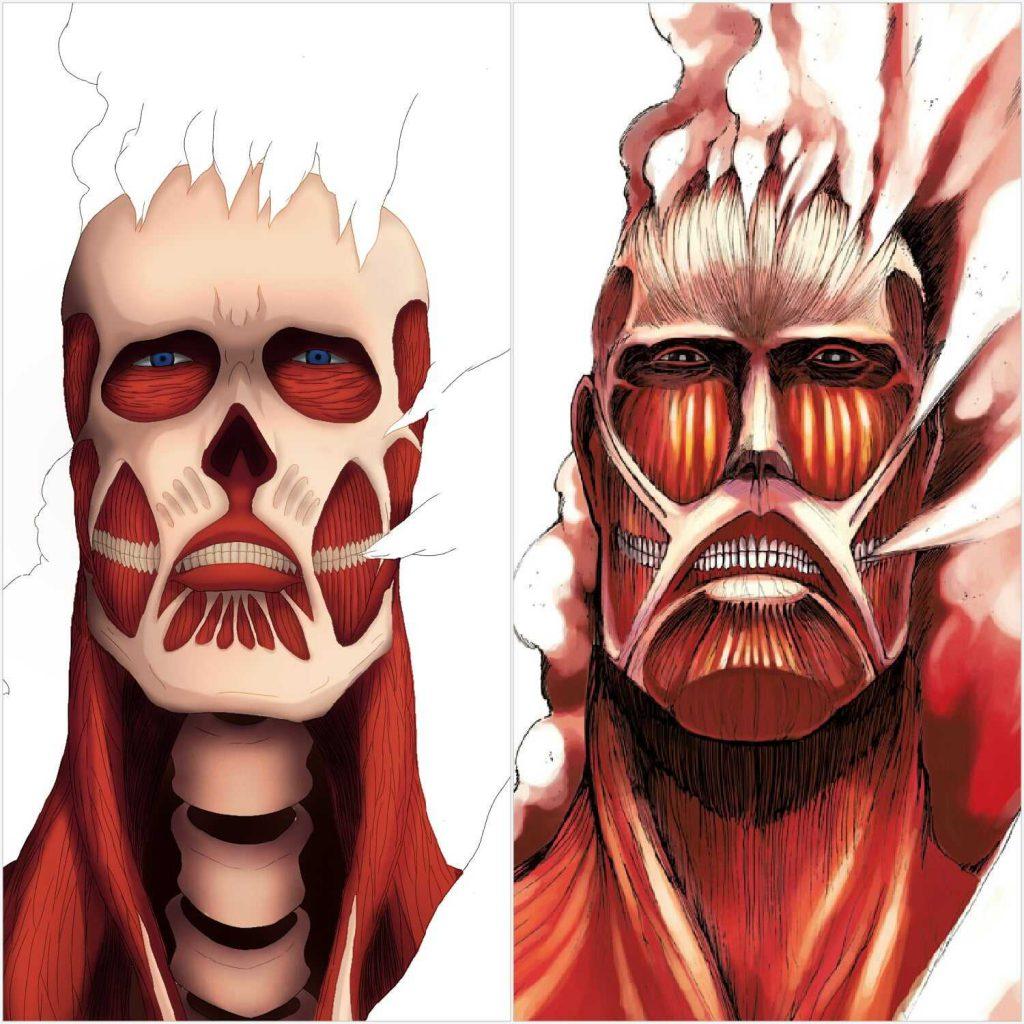 قسمت هفتم فصل چهارم Attack on Titan مقایسه انیمه و مانگا