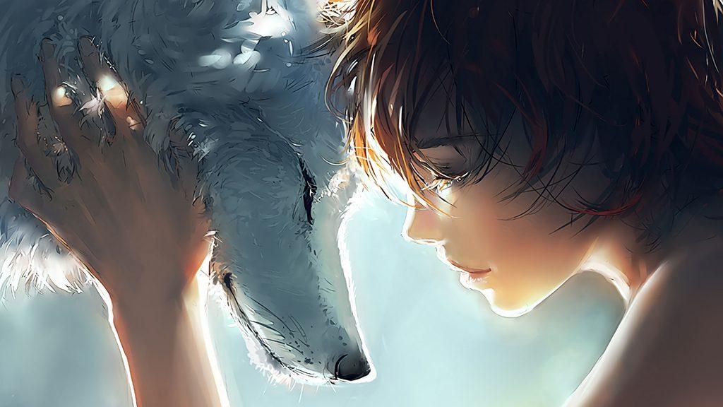 گرگ دختر والپیپر