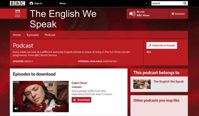 the English we speak از بهترین پادکست ها برای زبان